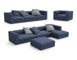 Poliform Dune sofas 3D model
