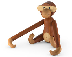 3d model rosendahl monkey wooden toy