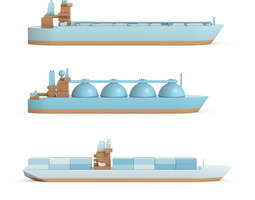 3d papafoxtrot ships figures
