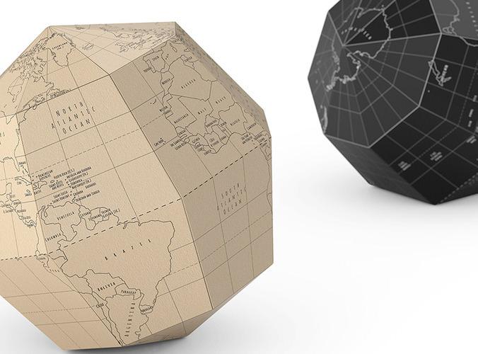 geografia paper globe 3d model max obj fbx 5
