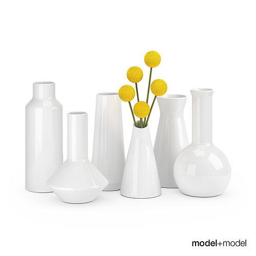 Ceramic Vases Set 3d Cgtrader