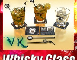 3D Jack Daniels Whiskey Glass