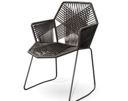 black modern chair 3d model