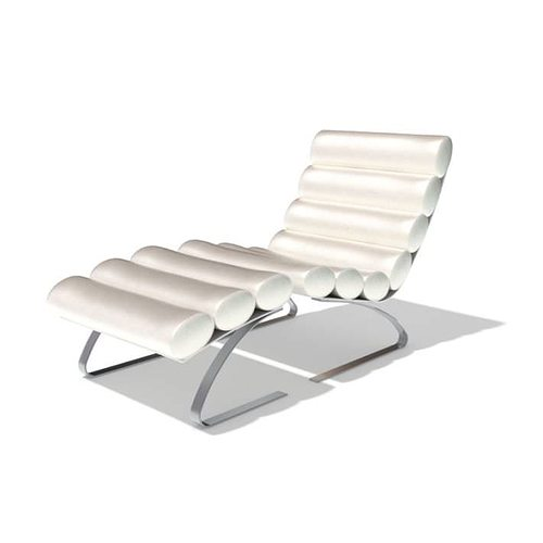 reclined lawn chair 3d model  1