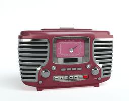 3d model radio with two speakers