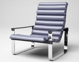 3D Grey Leather Chair