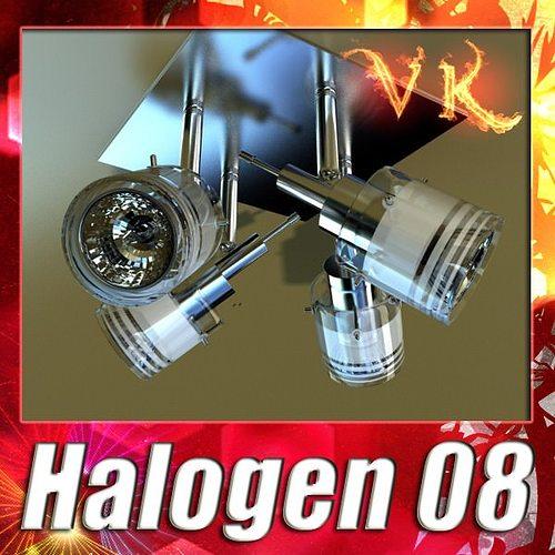 halogen ceiling light 08 photoreal 3d model max obj mtl 3ds fbx mat 1