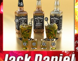 3d jack daniels collection