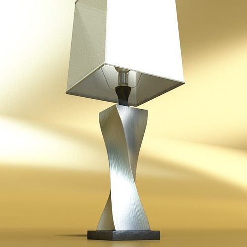 Bon ... Modern Table Lamp 07 Silver 3d Model Max Obj Mtl 3ds Fbx Mat 3 ...
