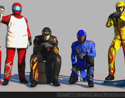 realtime rigged 3d asset pit crew