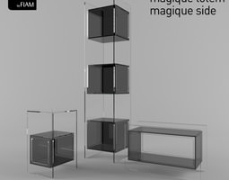 3d model magique by fiam design studio klass - coffee tables and display cabinet