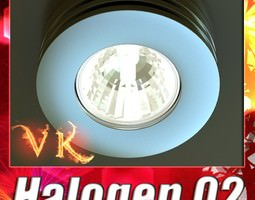 Halogen Lamp 02 High detail 3D