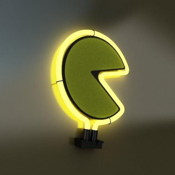 ... Table Lamp Pacman Ghost 3d Model Max 3ds Fbx Mtl Mat 9 ...