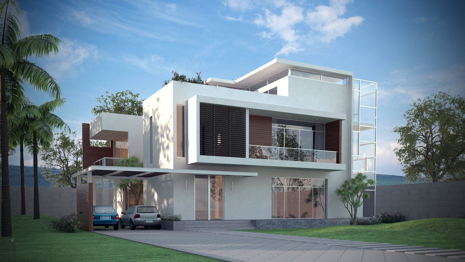 3D Models Luxury Contemporary House | CGTrader