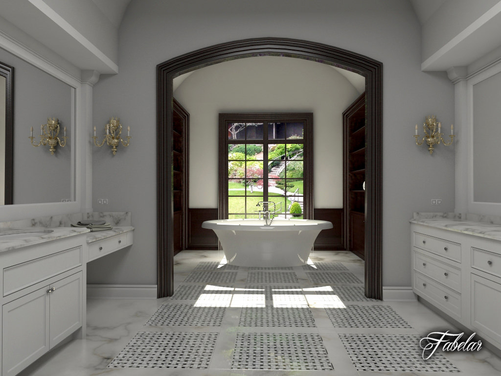Bathroom 3d Model scene 3d bathroom | cgtrader