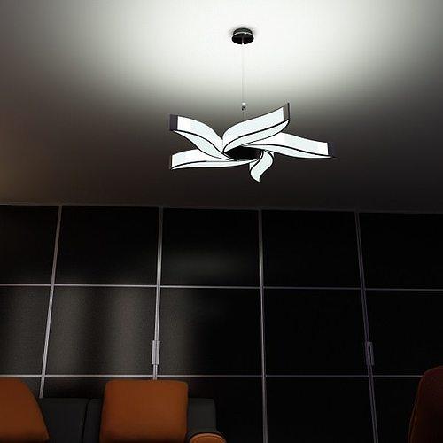 Modern Pendant Lamp 02 3D Model MAX OBJ 3DS FBX