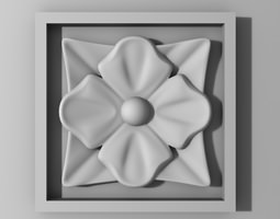 3D printable model decorate Rosette