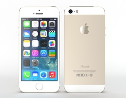 Iphone 5s Gold 3D