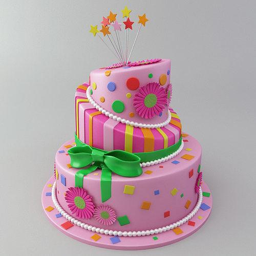 Celebration Cake 3d Model