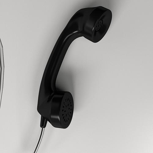 telephone handle 3d model 3ds fbx blend dae 1