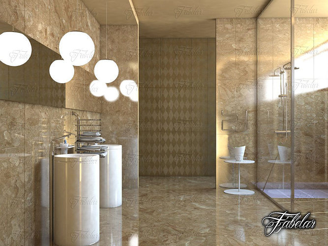 Bathroom 15 3d cgtrader for 3d bathroom models
