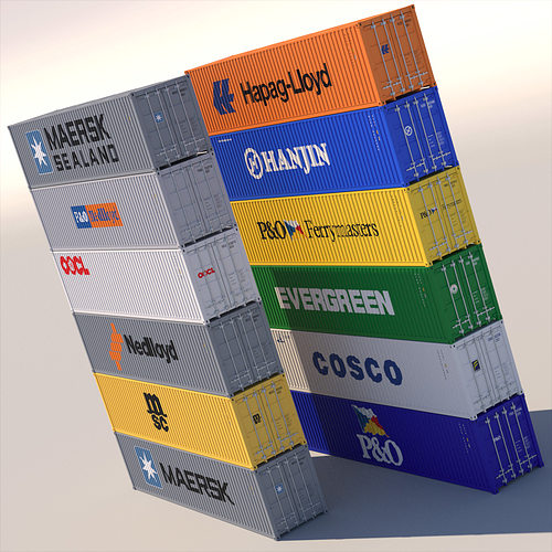 40 ft iso containers 3d model max obj 3ds fbx lwo lw lws hrc xsi 1