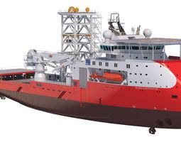Construction Well Intervention Vessel Skandi 3D