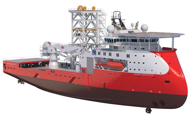 construction well intervention vessel skandi constructor 3d model max obj mtl fbx lwo lw lws 1