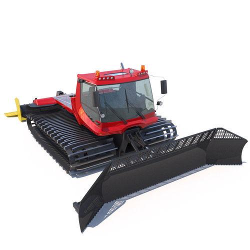 Snowcat pistenbully 600 3d model max obj 3ds fbx lwo lw lws hrc xsi