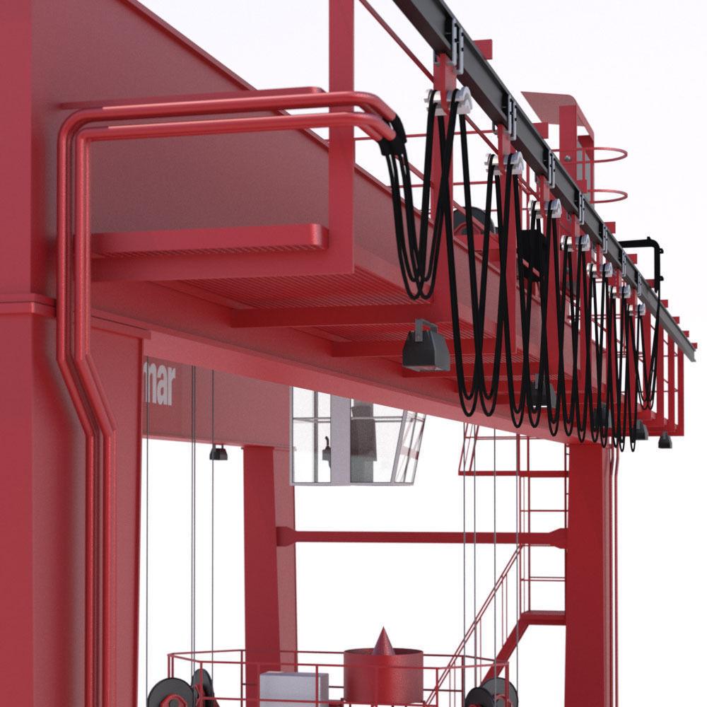 Rtg Models: RTG Gantry Crane Kalmar 3D Model MAX OBJ 3DS FBX LWO LW