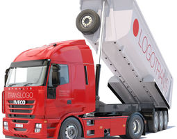 3D Iveco Stralis Dump Truck