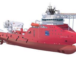 Construction Anchor Handling Vessel SKANDI SKANSEN 3D Model