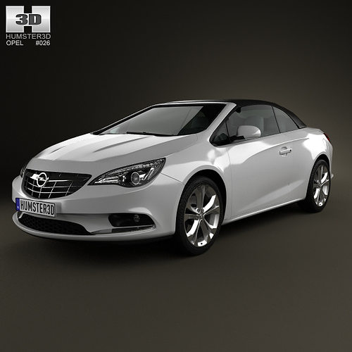 opel cascada cabrio 2013 3d model max obj 3ds fbx c4d lwo lw lws. Black Bedroom Furniture Sets. Home Design Ideas