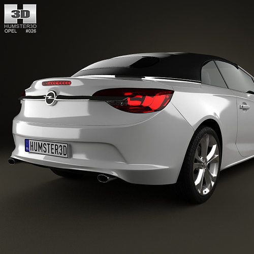 opel cascada cabrio 2013 3d model max obj 3ds fbx c4d lwo. Black Bedroom Furniture Sets. Home Design Ideas