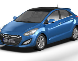 3D model 2013 Hyundai i30 Elantra Touring