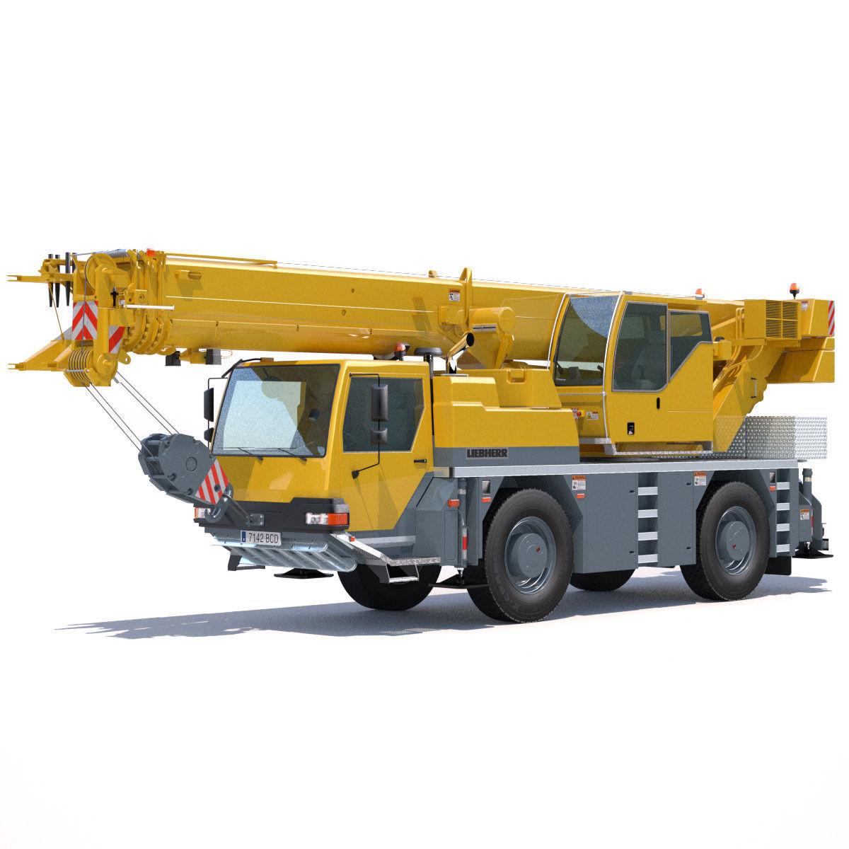 Mobile Crane Liebherr Ltm 1040 2 1 3d Model Max Obj 3ds