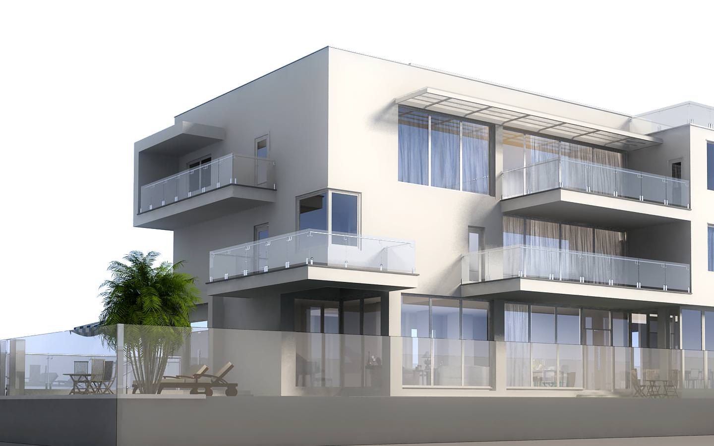 3d model luxury contemporary house with pool 3d model max for Exterior 3d model