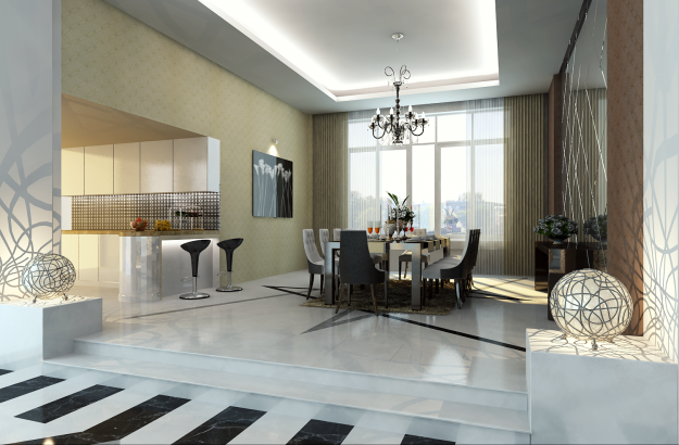 Photoreal Luxury House Interior 3D CGTrader