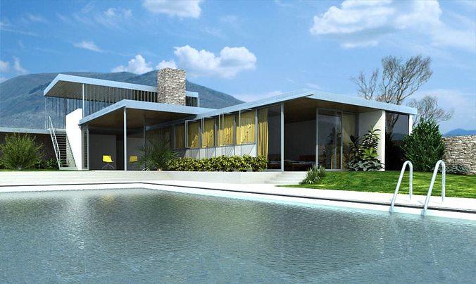 photorealistic house collection 3d model c4d 1