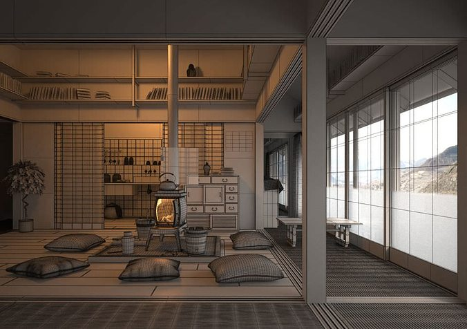 chinese interior collection 3d model max 1