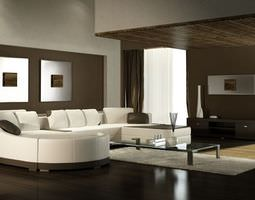 3d model photorealistic living room interior collection