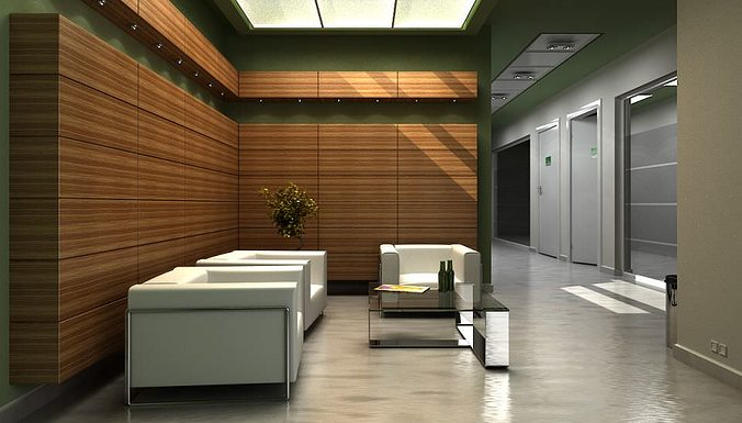 Modern Office Lobby With Chairs And Sofa Archinteriors Vol 8 | 3D model
