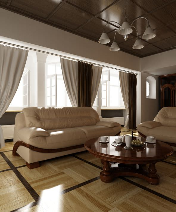 old school leather interior with sofa and table archinteriors... 3d model  max 1 ...