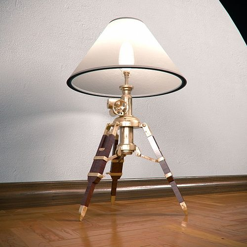 Tripod table lamp 3d model cgtrader tripod table lamp 3d model max obj 3ds fbx 3 aloadofball Images