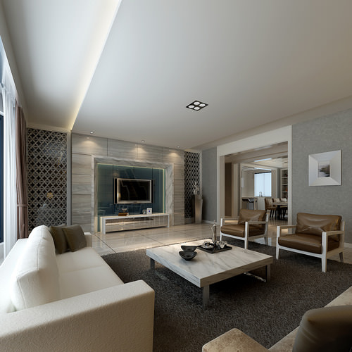 Modern living room with luxury furniture 3d model max - Pictures of apartment living rooms ...