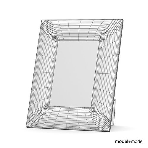 White skin picture frame 3D model | CGTrader