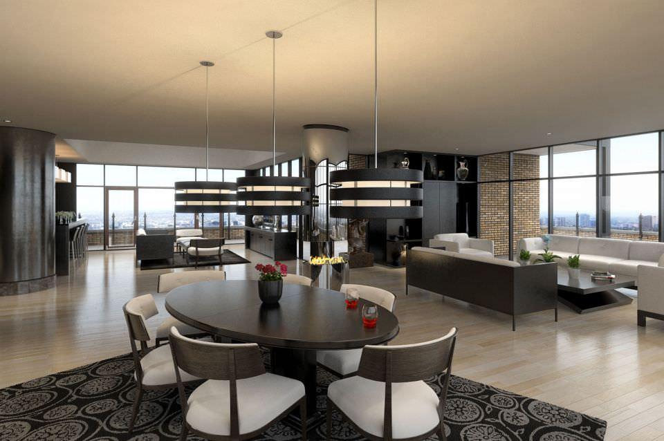 Modern Living Room Scene 3d Model