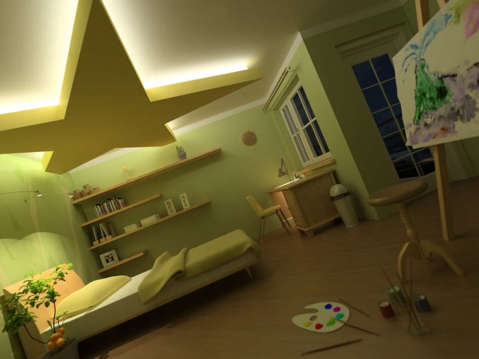 ... Child Bed Room Scene 3d Model Max 2 Design Inspirations
