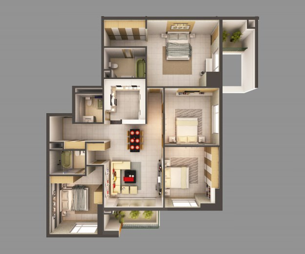 3D Model Detailed House Interior 2 | CGTrader