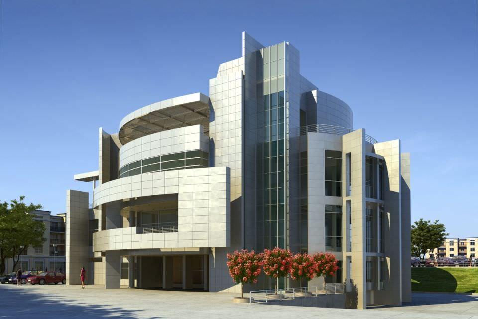 Modern Office Building Exterior D Model CGTrader - Modern office building